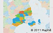 Political Map of Kobenhavn, lighten