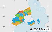 Political Map of Kobenhavn, single color outside