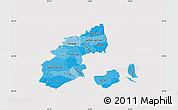 Political Shades Map of Kobenhavn, cropped outside