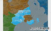 Political Shades Map of Kobenhavn, darken