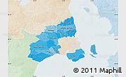 Political Shades Map of Kobenhavn, lighten