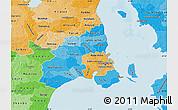 Political Shades Map of Kobenhavn