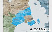 Political Shades Map of Kobenhavn, semi-desaturated