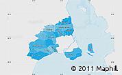 Political Shades Map of Kobenhavn, single color outside