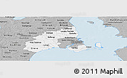 Gray Panoramic Map of Kobenhavn
