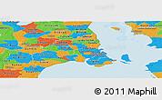 Political Panoramic Map of Kobenhavn