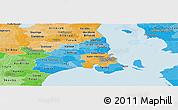 Political Shades Panoramic Map of Kobenhavn