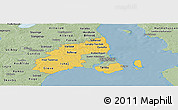 Savanna Style Panoramic Map of Kobenhavn