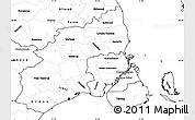 Blank Simple Map of Kobenhavn