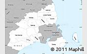 Gray Simple Map of Kobenhavn