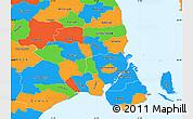 Political Simple Map of Kobenhavn