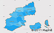 Political Shades Simple Map of Kobenhavn, cropped outside