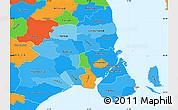 Political Shades Simple Map of Kobenhavn, political outside