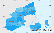 Political Shades Simple Map of Kobenhavn, single color outside