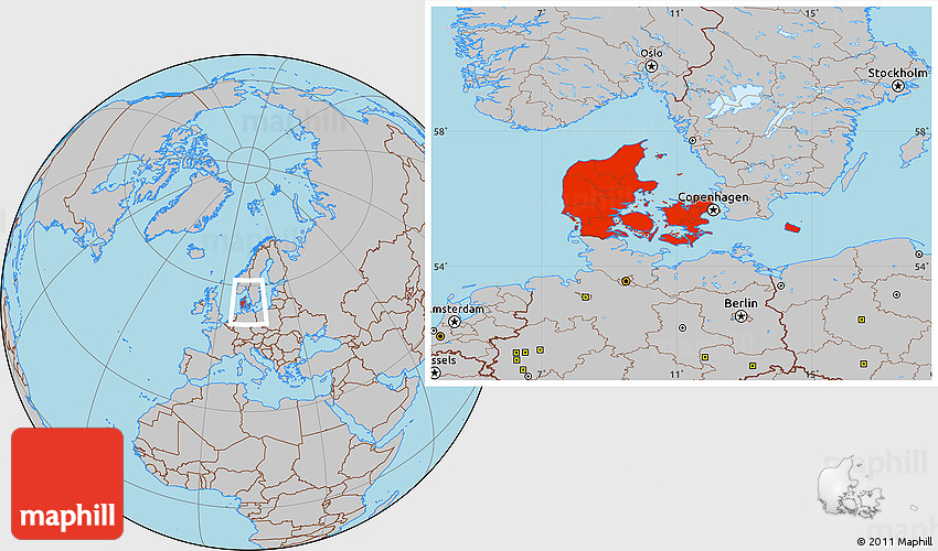 Viborg location on the denmark map gray location map of denmark gumiabroncs Image collections