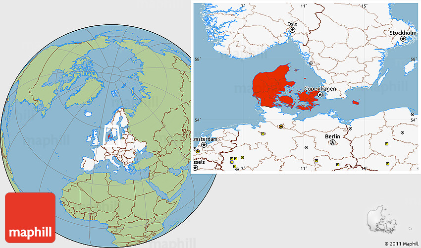 Savanna style location map of denmark highlighted continent publicscrutiny Images