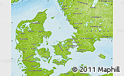 Physical Map of Denmark