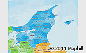 Political Shades 3D Map of Nordjylland