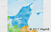 Political Shades Map of Nordjylland