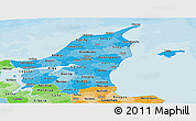 Political Shades Panoramic Map of Nordjylland
