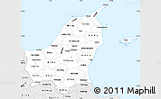Silver Style Simple Map of Nordjylland