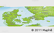 Physical Panoramic Map of Denmark