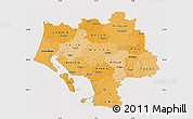Political Shades Map of Ribe, cropped outside