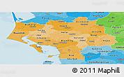 Political Shades Panoramic Map of Ribe