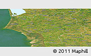 Satellite Panoramic Map of Ribe