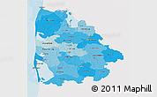 Political Shades 3D Map of Ringkobing, single color outside