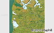 Satellite 3D Map of Ringkobing