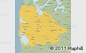 Savanna Style 3D Map of Ringkobing