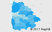 Political Shades Simple Map of Ringkobing, single color outside