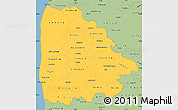 Savanna Style Simple Map of Ringkobing