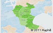 Political Shades 3D Map of Roskilde, lighten
