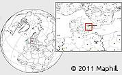 Blank Location Map of Bramsnas