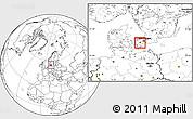 Blank Location Map of Koge