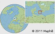Savanna Style Location Map of Koge
