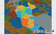 Political Map of Roskilde, darken