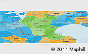 Political Shades Panoramic Map of Roskilde