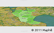 Political Shades Panoramic Map of Roskilde, satellite outside