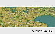 Satellite Panoramic Map of Roskilde