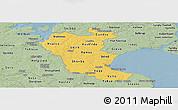 Savanna Style Panoramic Map of Roskilde