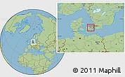 Savanna Style Location Map of Roskilde