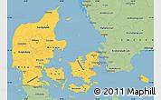 Savanna Style Simple Map of Denmark