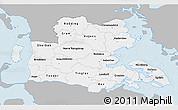 Gray 3D Map of Sonderjylland, single color outside
