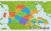 Political 3D Map of Sonderjylland, physical outside