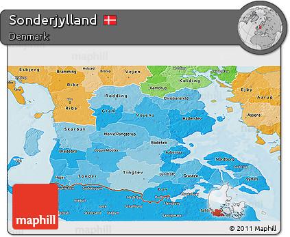 Political Shades 3D Map of Sonderjylland