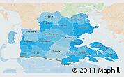 Political Shades 3D Map of Sonderjylland, lighten