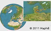 Satellite Location Map of Augustenborg